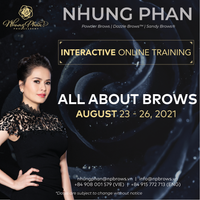 ALL ABOUT BROWS - INTERACTIVE ONLINE TRAINING 23 - 26/08/2021 (KIT included)