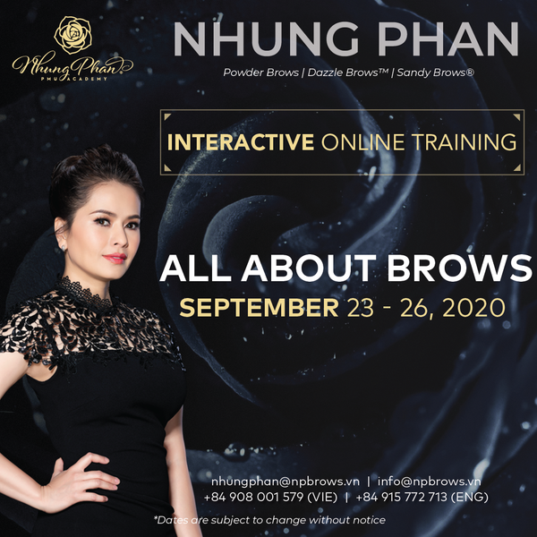 ALL ABOUT BROWS - INTERACTIVE ONLINE TRAINING 23 - 26/09/2020 (KIT included)