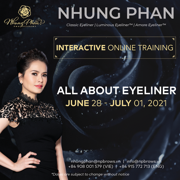 ALL ABOUT EYELINER - INTERACTIVE ONLINE TRAINING 28/06 - 01/07/2021 (KIT included)