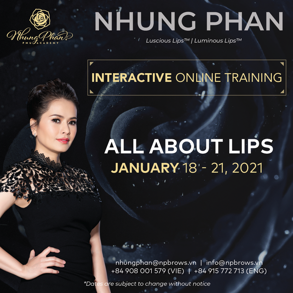 ALL ABOUT LIPS - INTERACTIVE ONLINE TRAINING 18 - 21/01/2021 (KIT included)