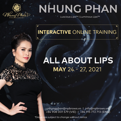 ALL ABOUT LIPS - INTERACTIVE ONLINE TRAINING 24 - 27/05/2021 (KIT included)