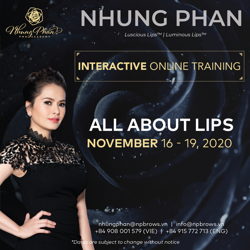 ALL ABOUT LIPS - INTERACTIVE ONLINE TRAINING 16 - 19/11/2020 (KIT included)