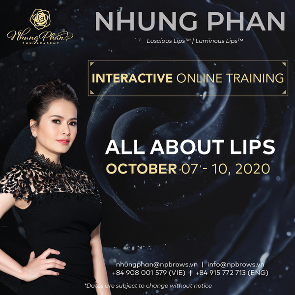 ALL ABOUT LIPS - INTERACTIVE ONLINE TRAINING 07 - 10/10/2020 (KIT included)