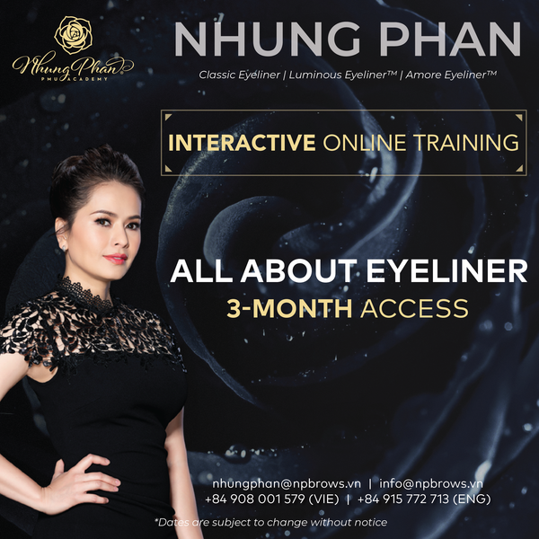 ALL ABOUT EYELINER - INTERACTIVE ONLINE TRAINING 22 - 25/02/2021 (KIT included)