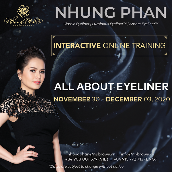 ALL ABOUT EYELINER - INTERACTIVE ONLINE TRAINING 30/11 - 03/12/2020 (KIT included)