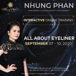 ALL ABOUT EYELINER - INTERACTIVE ONLINE TRAINING 07 - 10/09/2020 (KIT included)