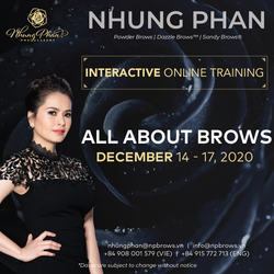 ALL ABOUT BROWS - INTERACTIVE ONLINE TRAINING 14 - 17/12/2020 (KIT included)