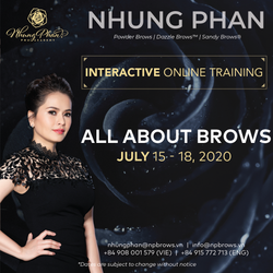ALL ABOUT BROWS - INTERACTIVE ONLINE TRAINING 15 - 18/07/2020 (no KIT included)