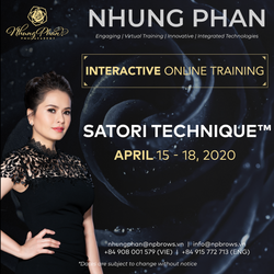 SATORI TECHNIQUE™️ - INTERACTIVE ONLINE TRAINING 15 - 18/04/2020 (no KIT included)