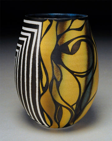 Tall Bowl with Maze and Pattern