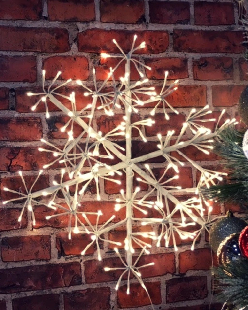 Big White Snowflake Fairylight