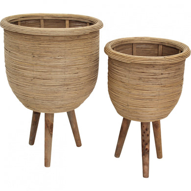 Campania Rattan Planter Set of 2
