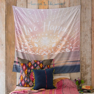 Wall Tapestry Live Happy 150 X 150 Cm