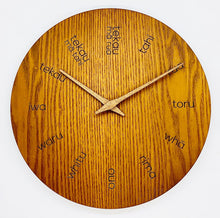 Load image into Gallery viewer, Te Reo Wooden Clock