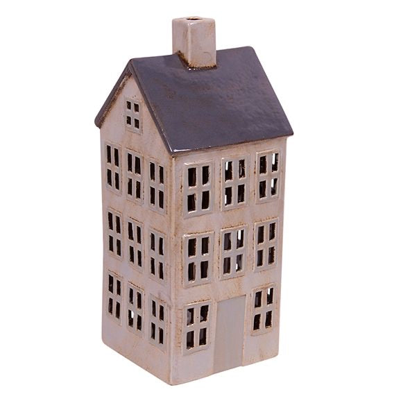 Grande Chalet Tea Light House Grey