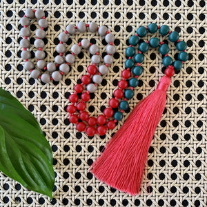 Sorbet Tassel Necklace - Red Currant Delight