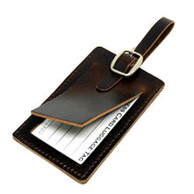 Load image into Gallery viewer, Leather Business Card Tag