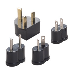 Non-Grounded Adaptor Plugs - P4B - Set of 4 | Types A, B, C, D