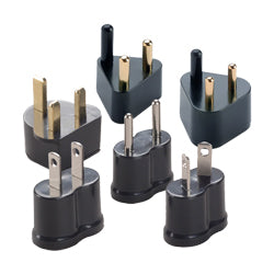 P6B Set of 6 Nongrounded Adaptor Plugs | Types A, B, C, D, E, F