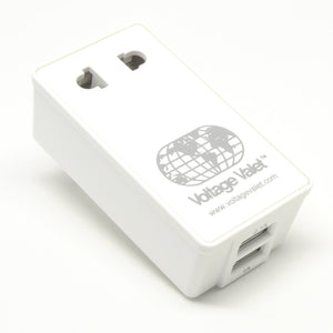 PAU Adapter Plug With 2 Port USB | North, Central and South America