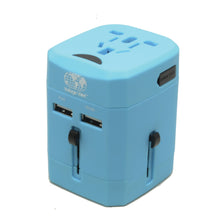 Load image into Gallery viewer, Universal Travel Adaptor with Dual USB Ports