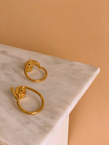 Motley x Scott Wilson, Twist Reversible Earrings in Gold Vermeil, £175