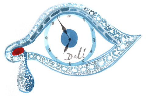 Salvador Dali Eye of Time Brooch / Watch