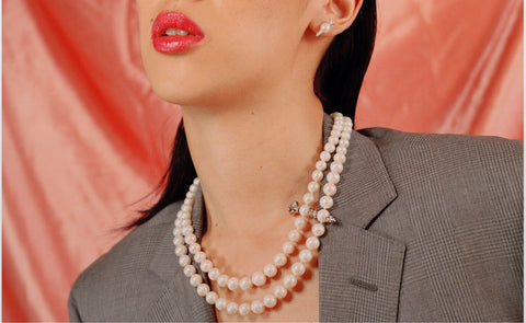 Motley Blog | Frances Wadsworth Jones | Silver Twinset Pearls