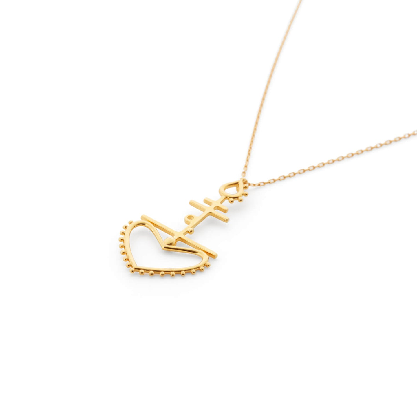 Chaucer Necklace in Gold Vermeil