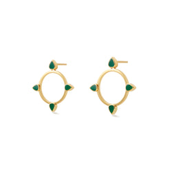 Bond Street Monopoly Earrings in Gold Vermeil