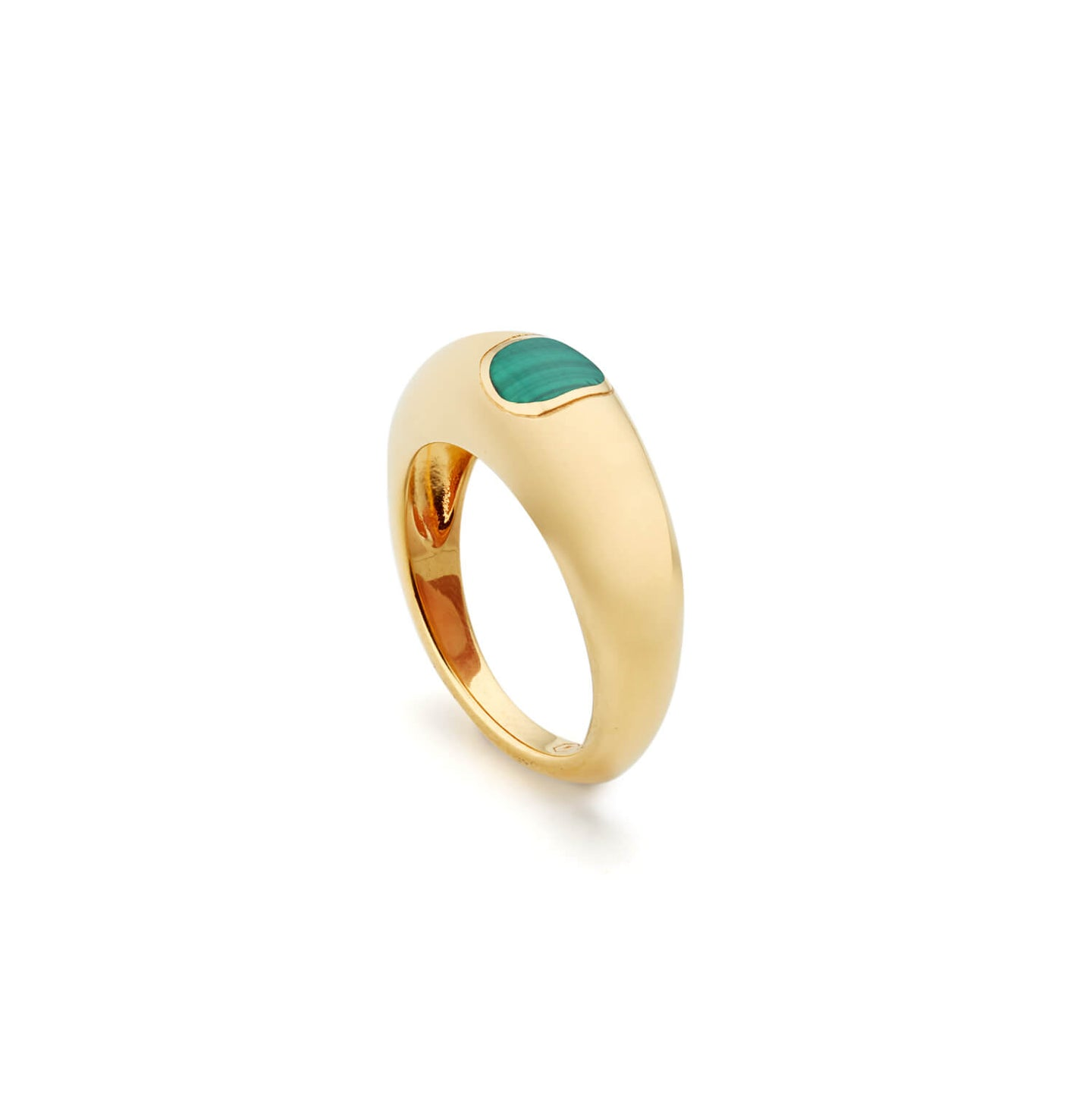 Gold Piquant Ring with Malachite
