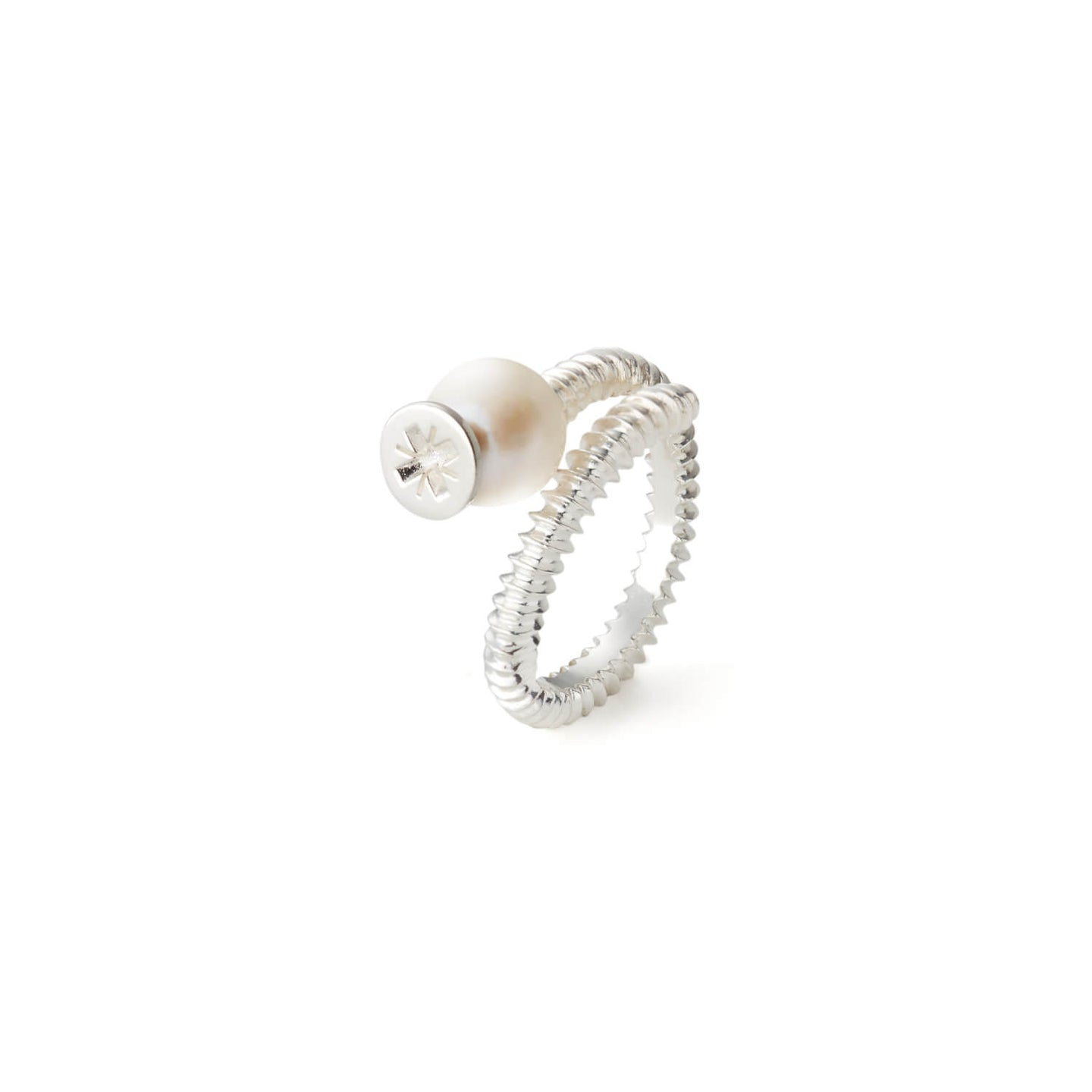 Pearl Screw Ring | Sterling Silver | FWJ x Motley | Product Shot 1
