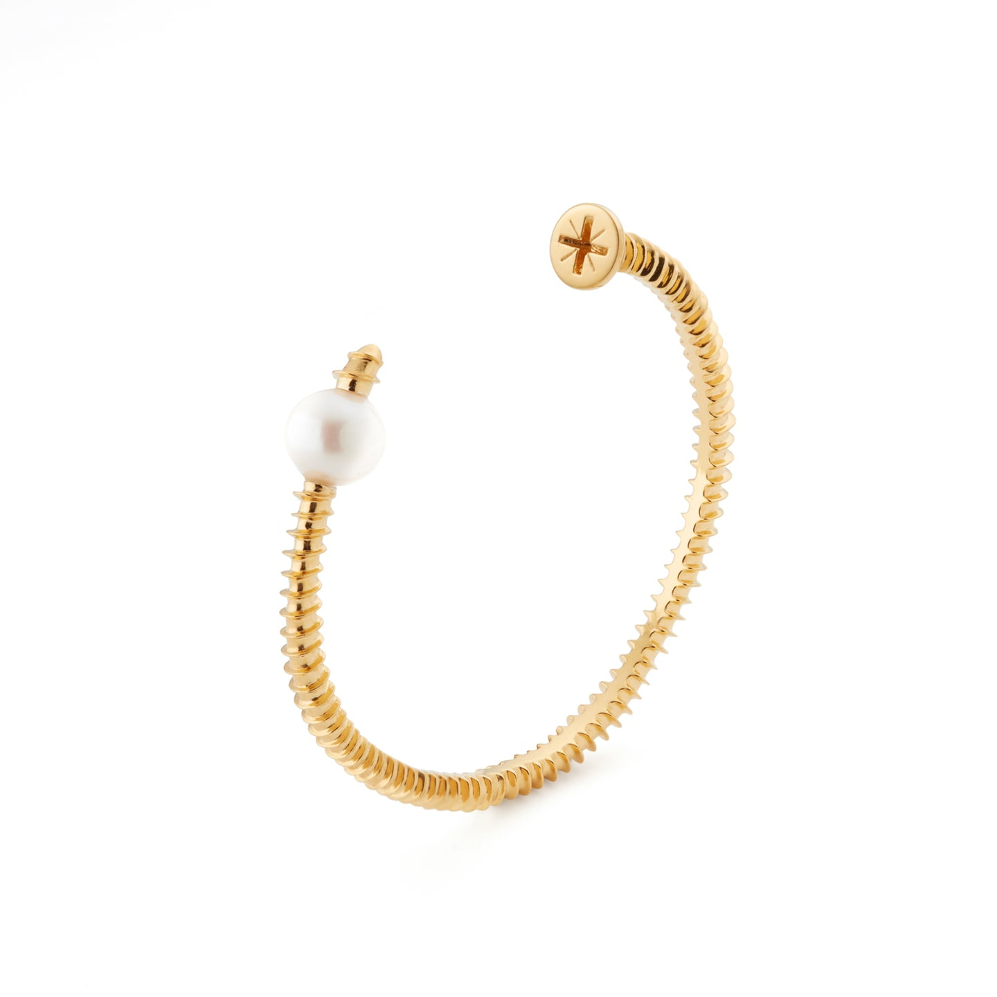 Pearl Screw Bangle | 18kt Gold Vermeil | Motley x Frances Wadsworth Jones | Product Shot 1