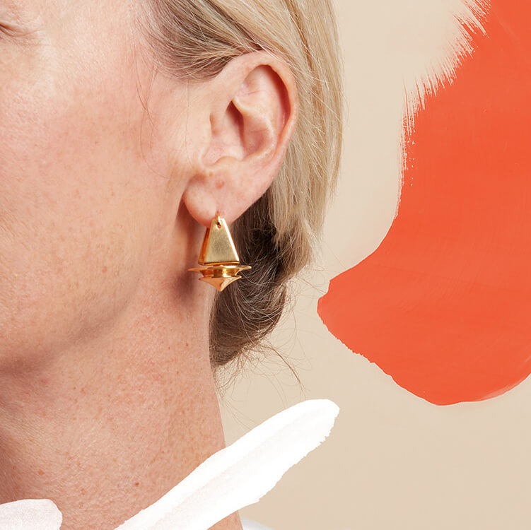 Spindle Earrings in Gold Vermeil