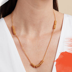 Long Worry-Not Necklace in Gold Vermeil