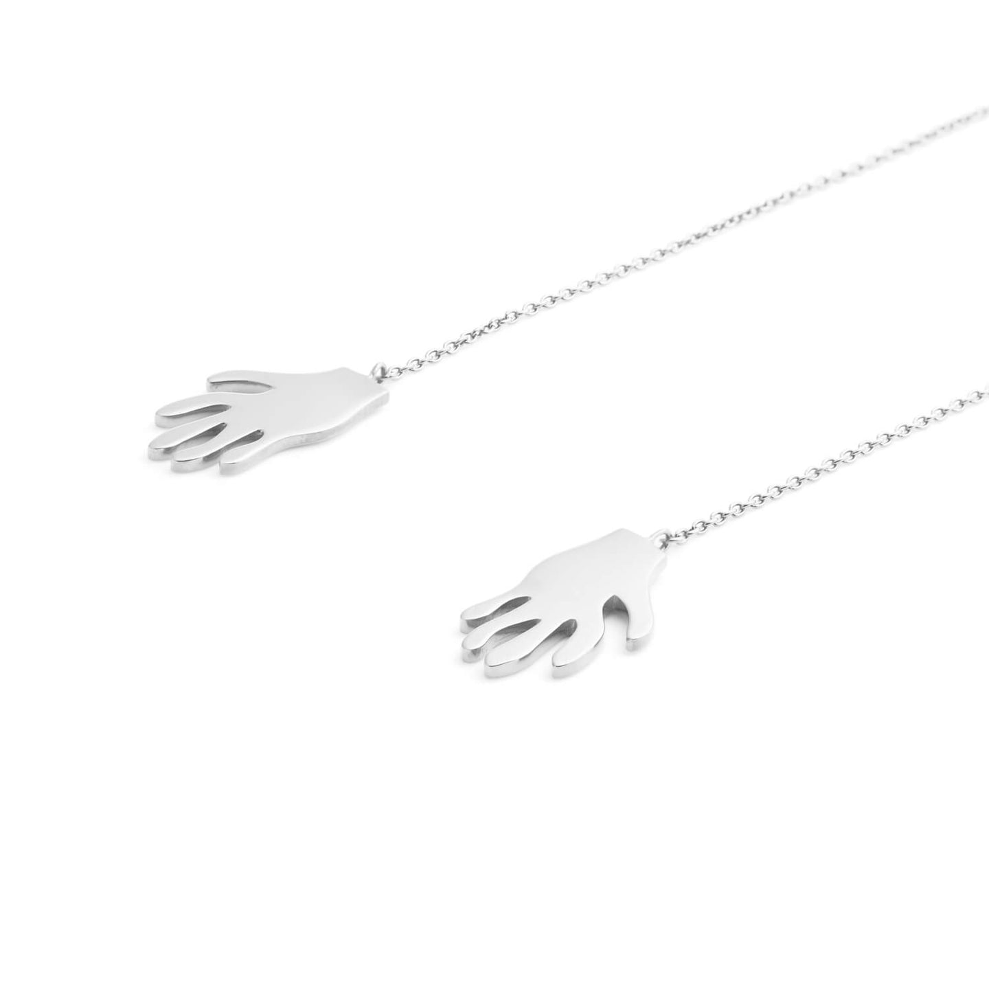 Silver What a Handful Drop Earrings