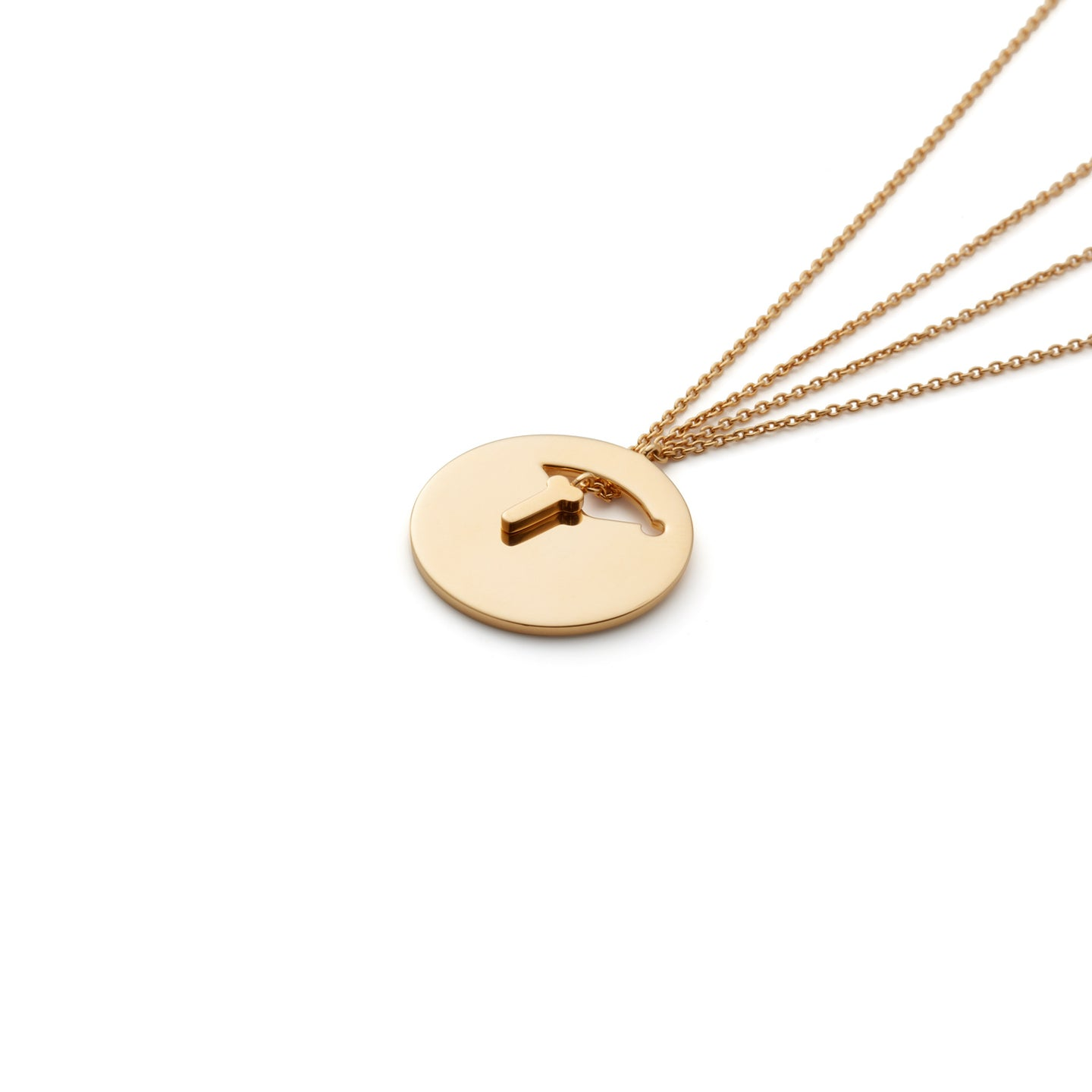 Hey Boy Necklace in Gold Vermeil