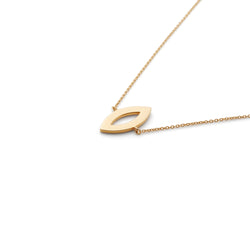 Hey Girl Necklace in Gold Vermeil