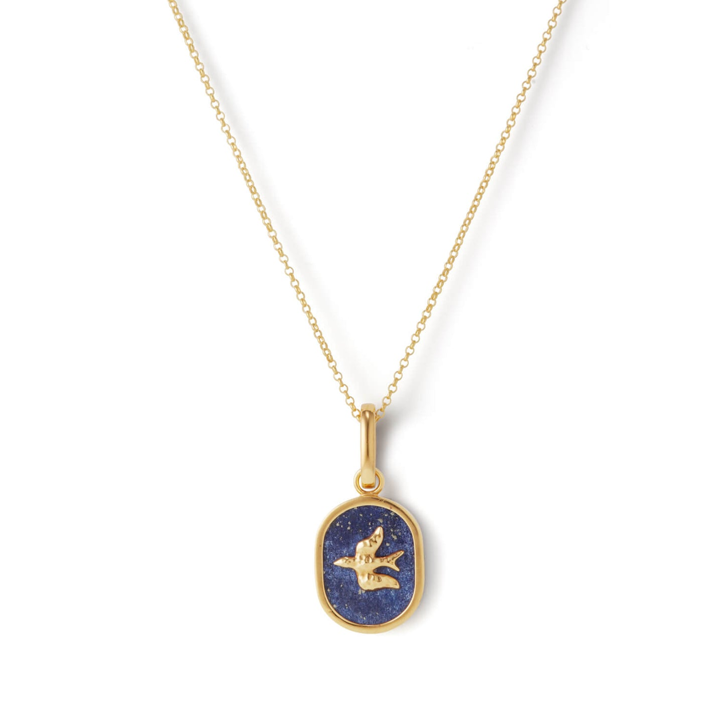 Gold L'Oiseau Pendant Necklace