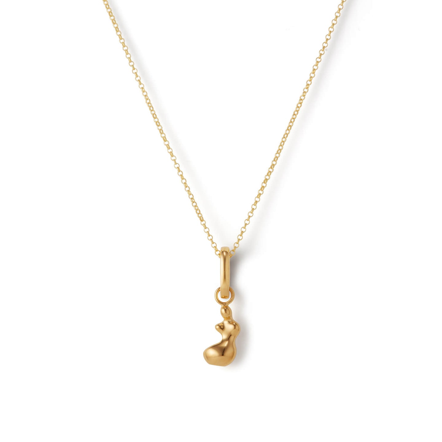 Gold Nude Figure Pendant Necklace