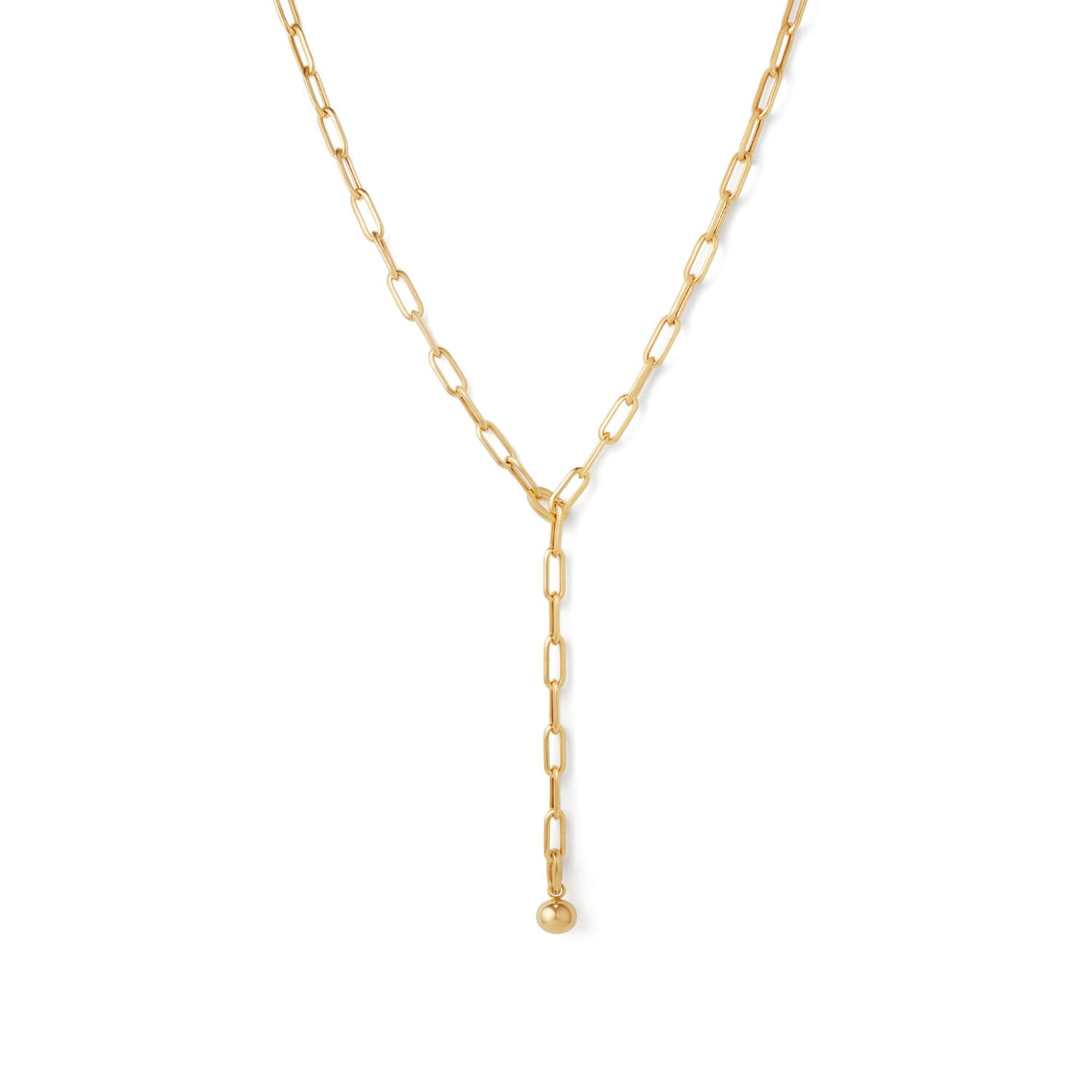 Gold Curator Link Necklace With Charm | 18kt Gold Vermeil | Motley x Estelle Dévé | Product Shot 1