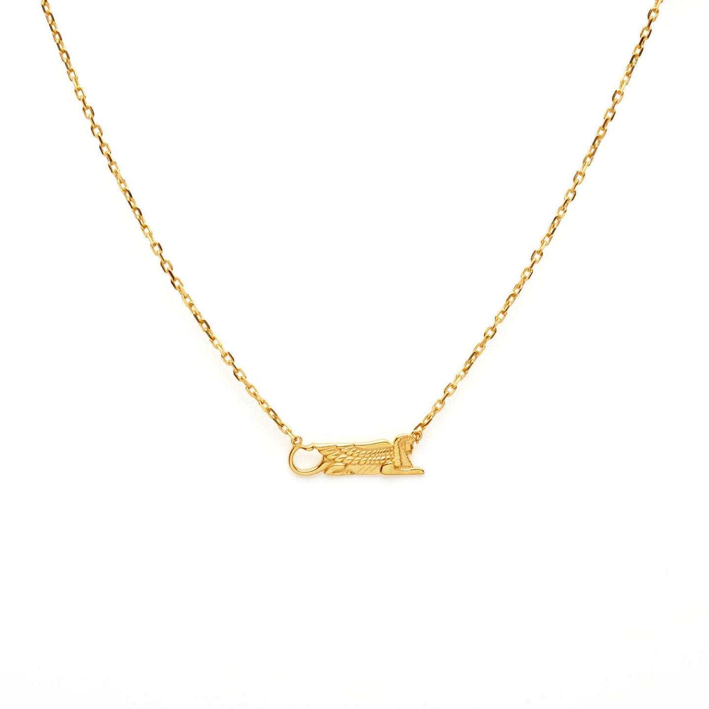 gold sphinx necklace
