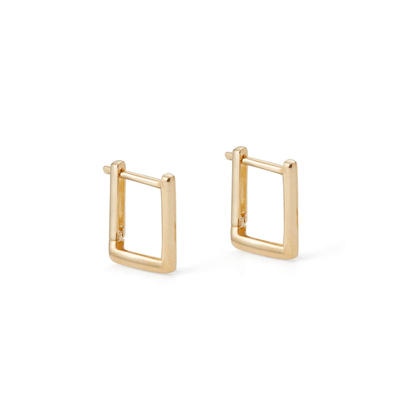 Gold Romeo Square Hoops