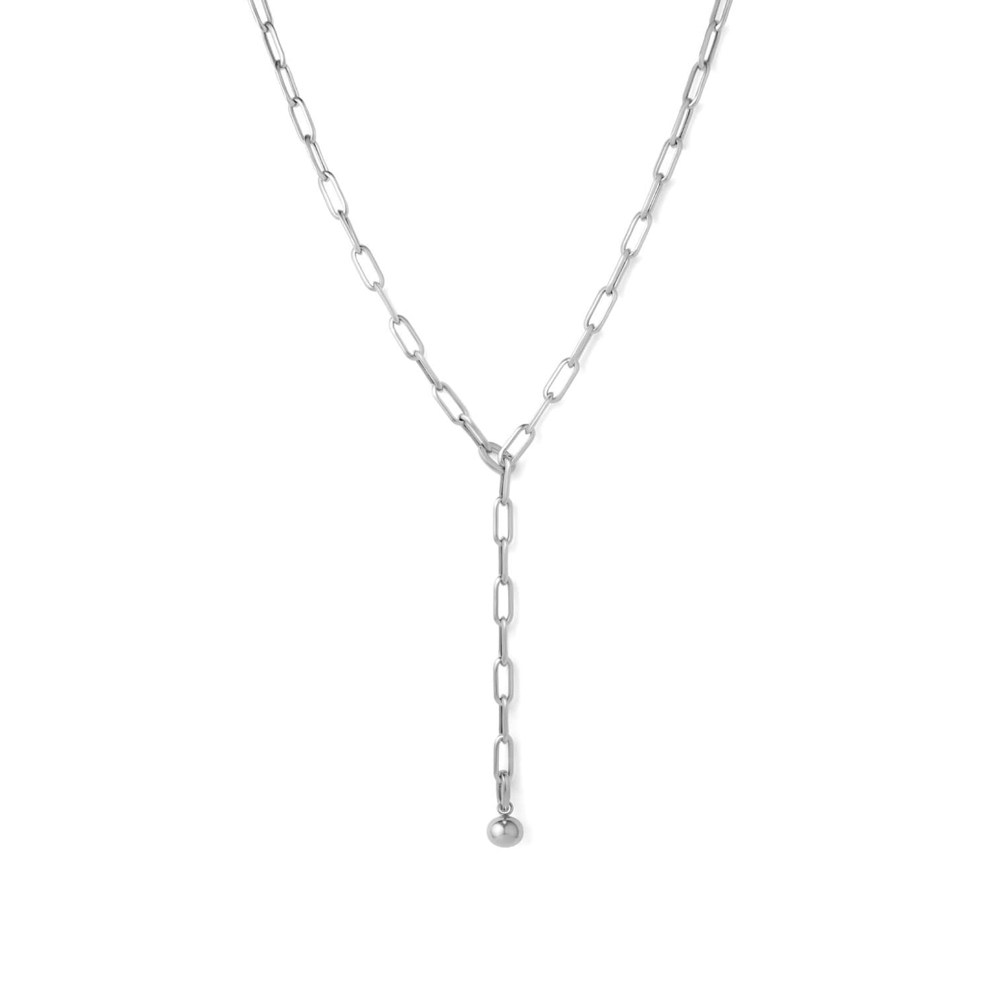 Silver Curator Necklace with Charm