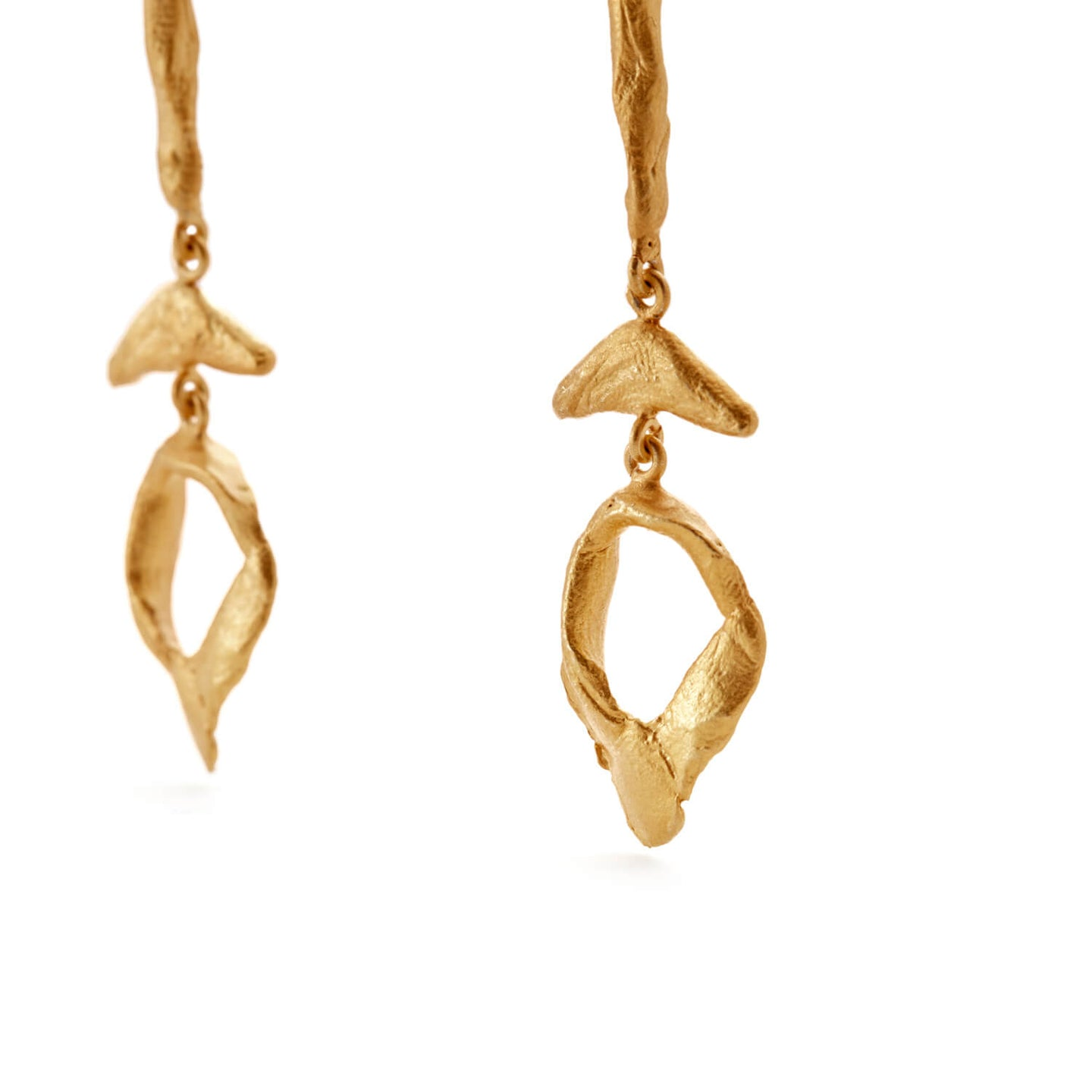 Gold Jetsam Earrings