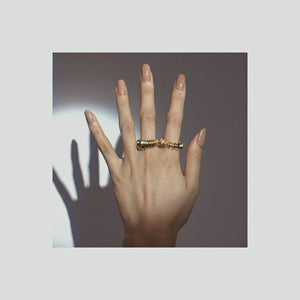 Chunky Gold Strength Ring | 18kt Gold Vermeil | Motley x Charlotte Garnett | Video Shot 1