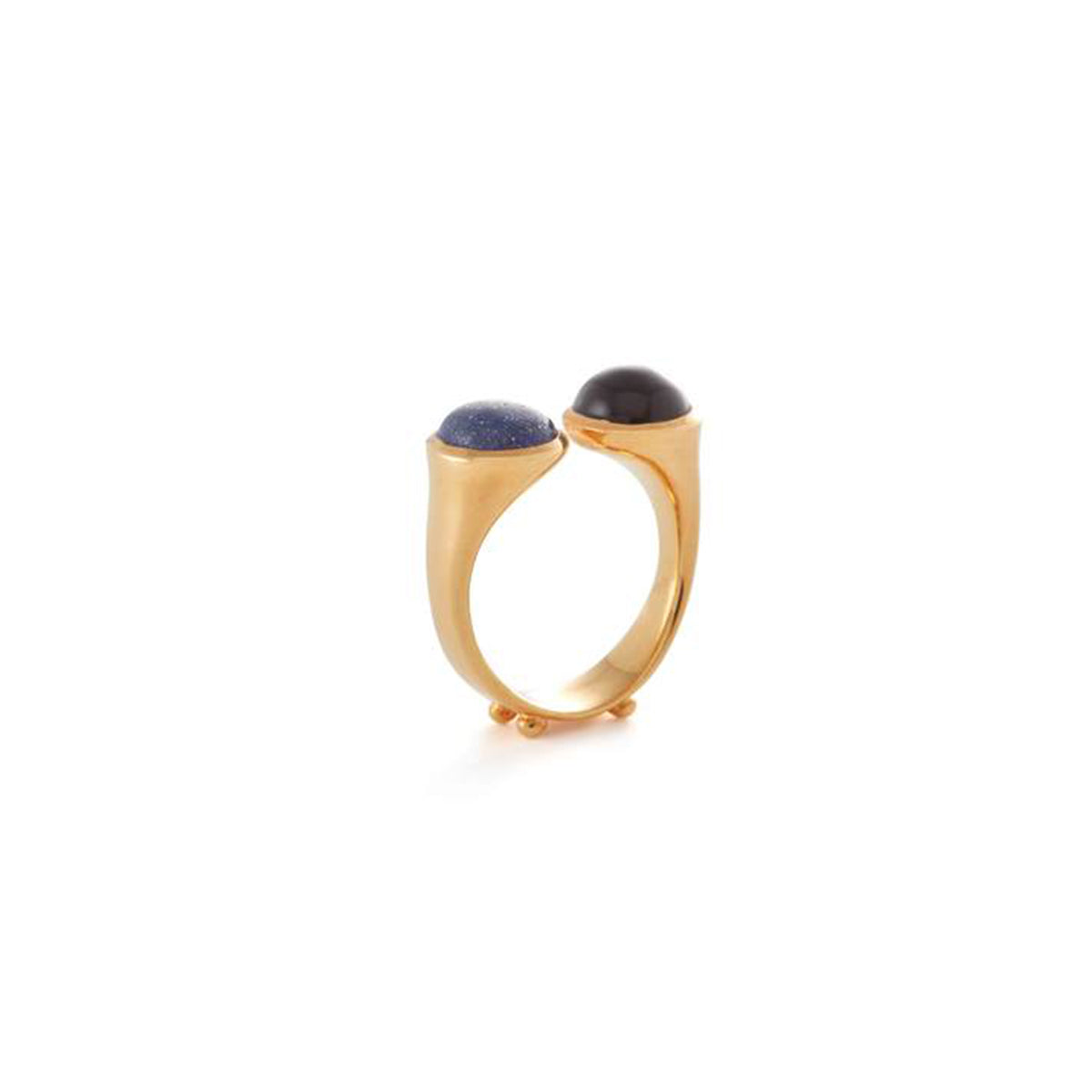 Descartes Ring in Lapis Lazuli and Onyx