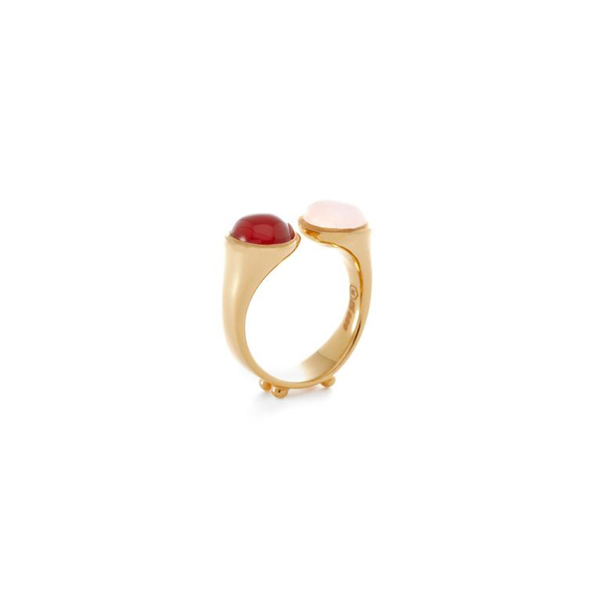Germain Ring in Red and Pink Agate