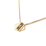 Black Delaunay Diamond Necklace | 18kt Gold Vermeil | Motley x Melis Goral | Product Shot 1