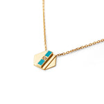 Turquoise Delaunay Diamond Necklace | 18kt Gold Vermeil | Motley x Melis Goral | Product Shot 1
